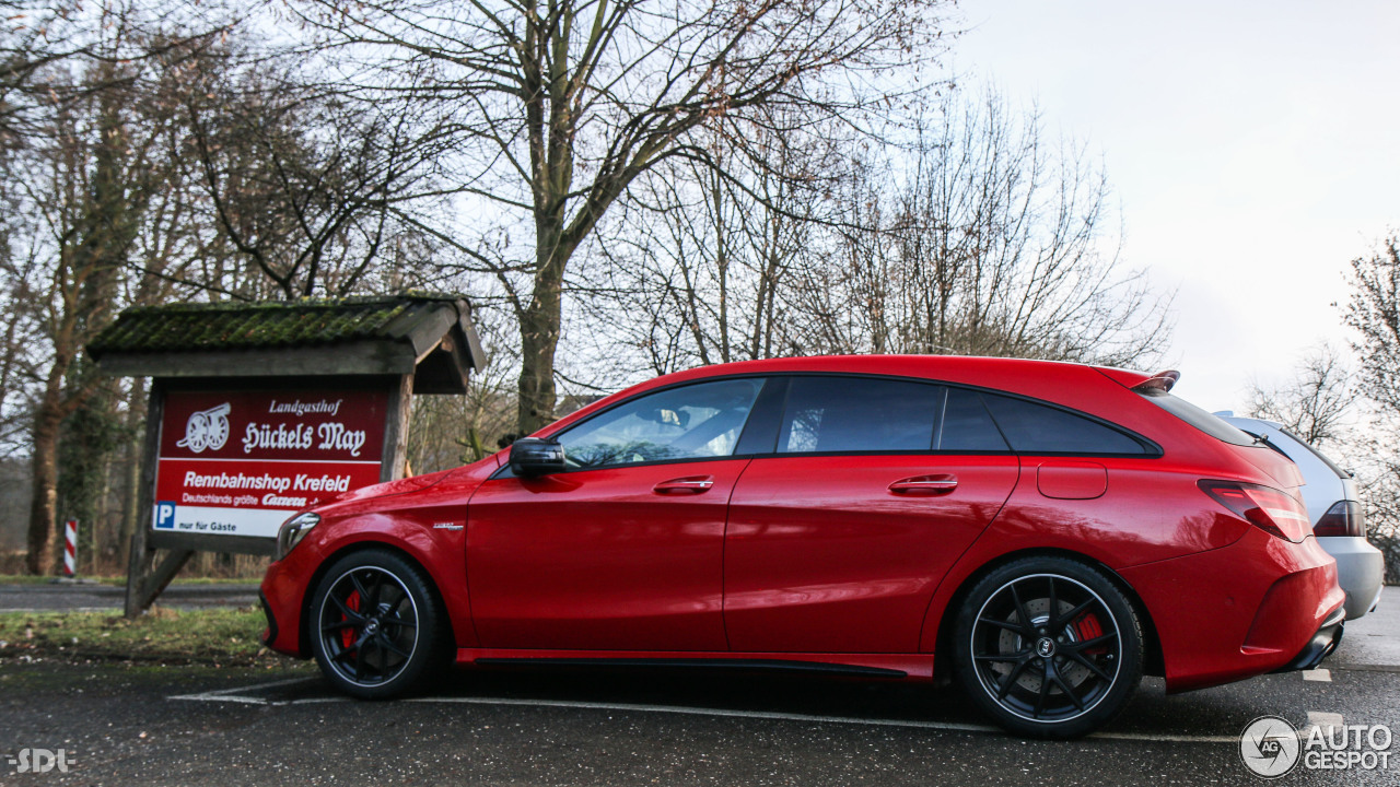 mercedes amg cla 45 shooting brake x117 2017 17 january. Black Bedroom Furniture Sets. Home Design Ideas