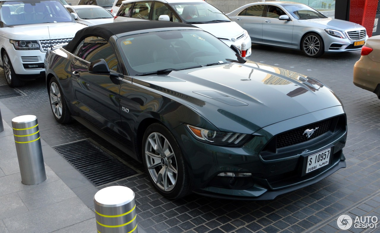 ford mustang gt 50th anniversary convertible 11 february 2017 autogespot. Black Bedroom Furniture Sets. Home Design Ideas