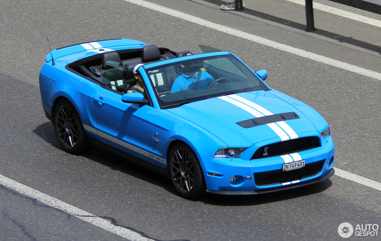ford mustang shelby gt500 convertible 2010 17 february 2017 autogespot. Black Bedroom Furniture Sets. Home Design Ideas
