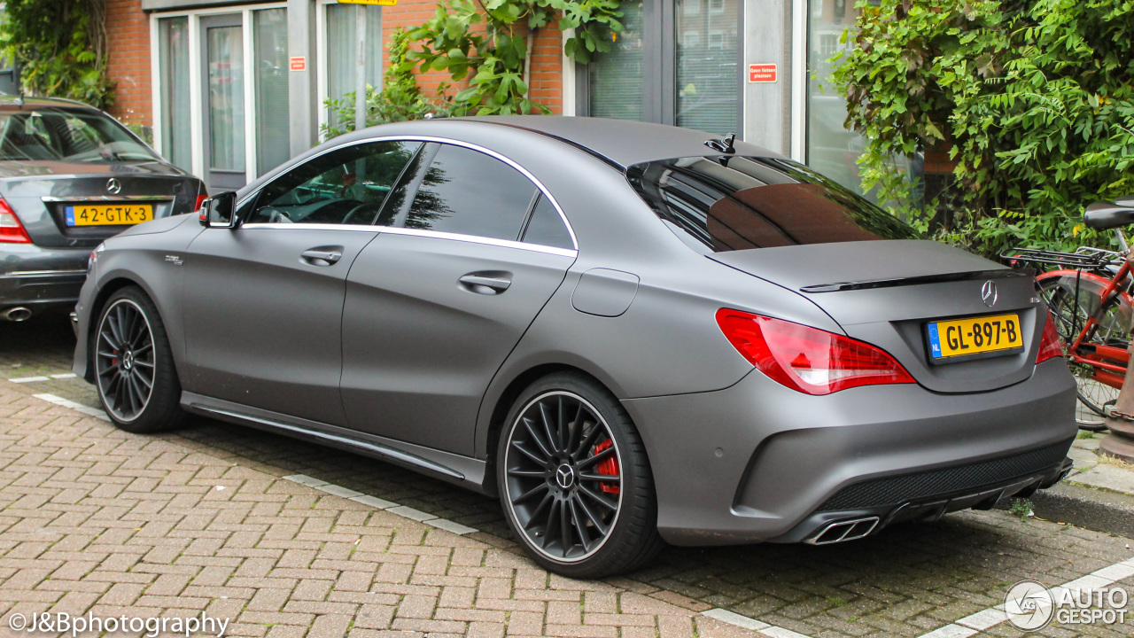 mercedes benz cla 45 amg edition 1 c117 20 february 2017 autogespot. Black Bedroom Furniture Sets. Home Design Ideas