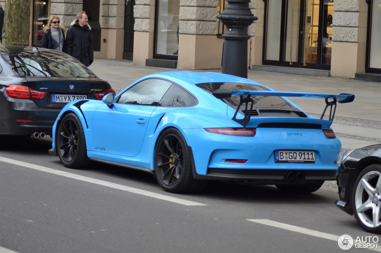 porsche 991 gt3 rs 12 march 2017 autogespot. Black Bedroom Furniture Sets. Home Design Ideas