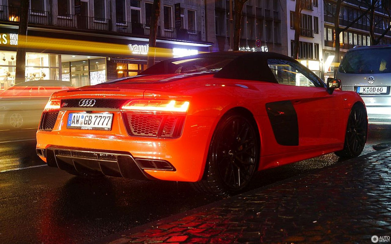 Audi R8 V10 Spyder 2016 19 March 2017 Autogespot