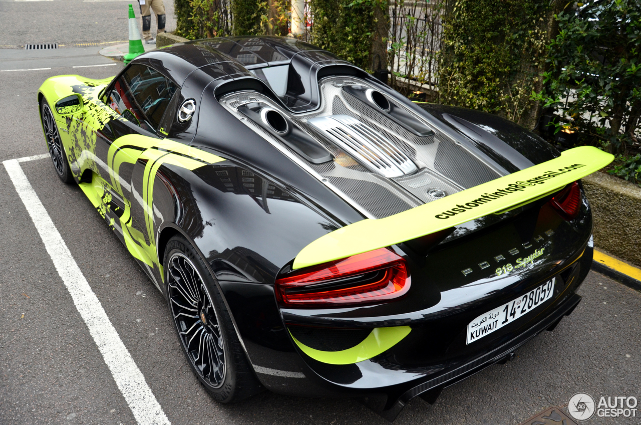 porsche 918 spyder 5 april 2017 autogespot. Black Bedroom Furniture Sets. Home Design Ideas