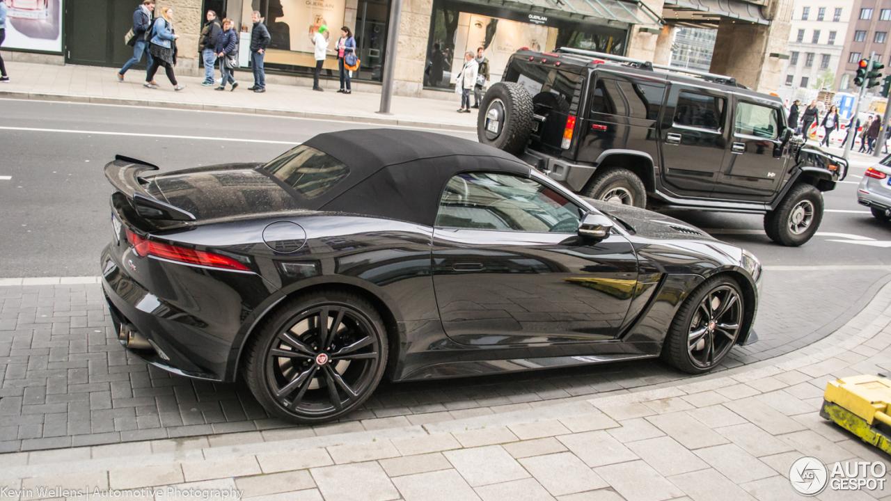 jaguar f type svr convertible 8 april 2017 autogespot. Black Bedroom Furniture Sets. Home Design Ideas