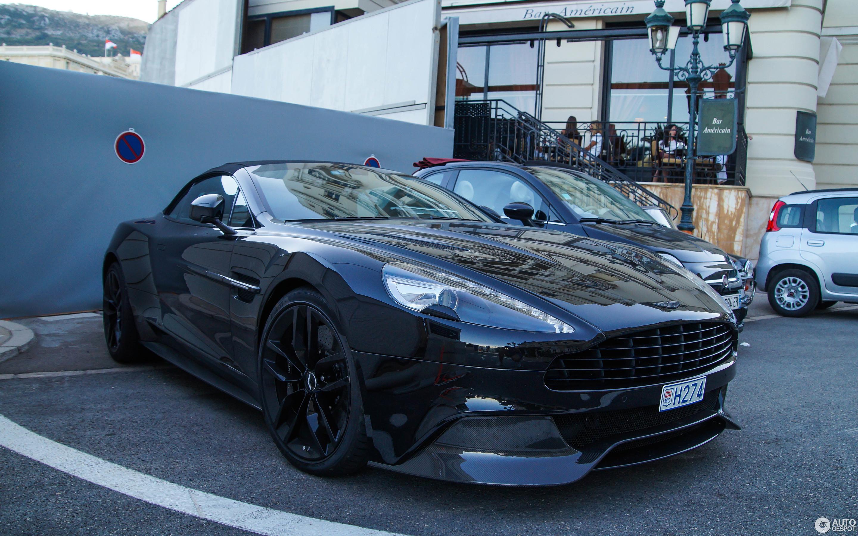 Aston Martin Vanquish Volante Carbon Black Edition May - Black aston martin