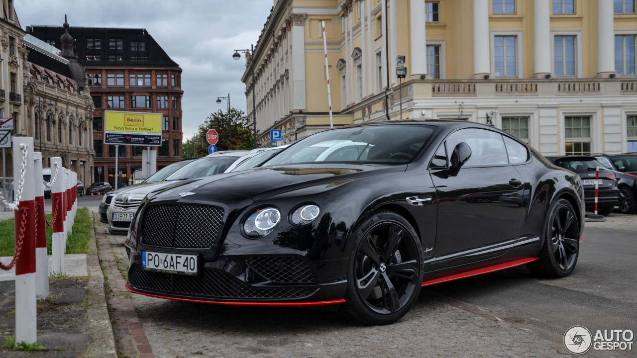 bentley continental gt speed black edition 2016 24 may 2017 autogespot. Black Bedroom Furniture Sets. Home Design Ideas