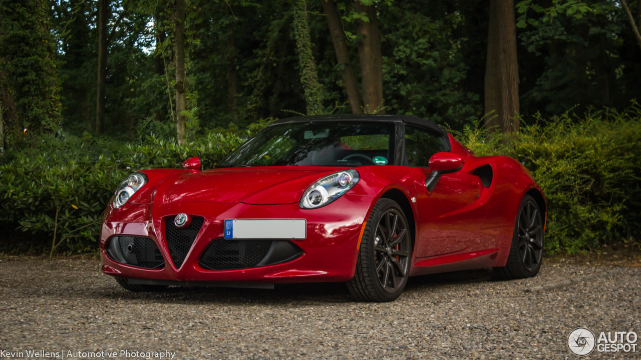 alfa romeo 4c spider 11 june 2017 autogespot. Black Bedroom Furniture Sets. Home Design Ideas