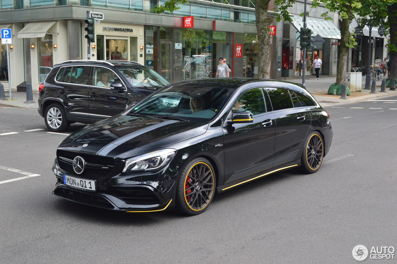 Mercedes Amg Cla 45 Shooting Brake X117 Yellow Night