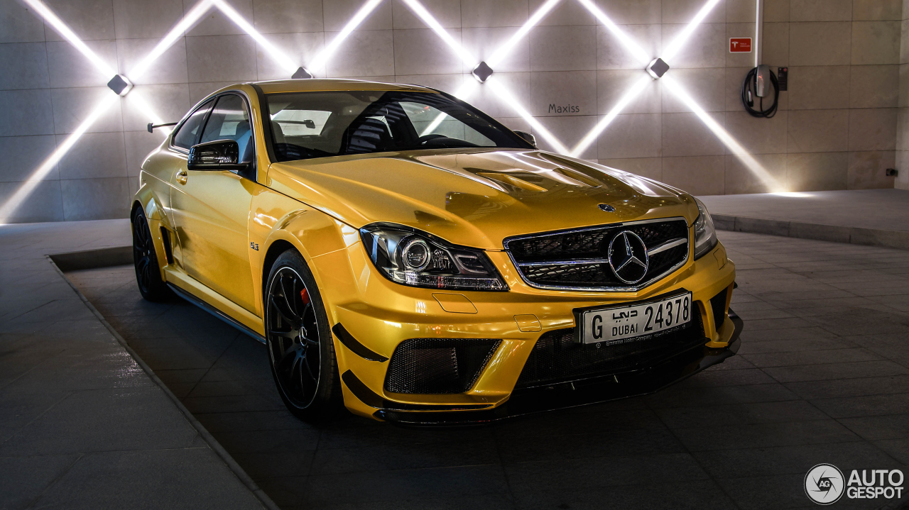 Mercedes benz c 63 amg coup black series 11 august 2017 for C series mercedes benz