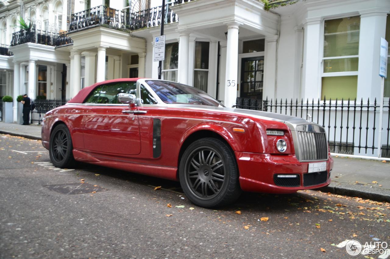 First spot rolls royce phantom drophead coup mansory bel air gb