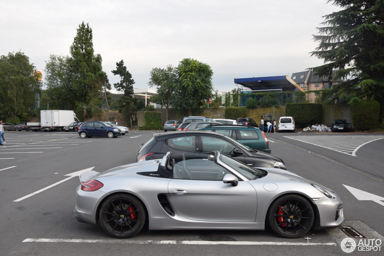 porsche 981 boxster spyder 14 september 2017 autogespot. Black Bedroom Furniture Sets. Home Design Ideas