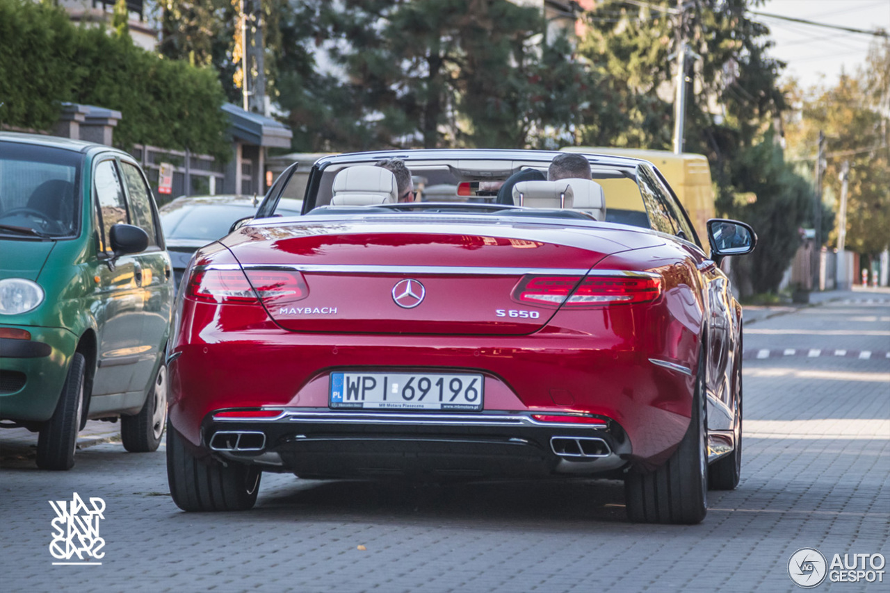 Mercedes maybach s650 cabriolet 30 september 2017 for Mercedes benz s650
