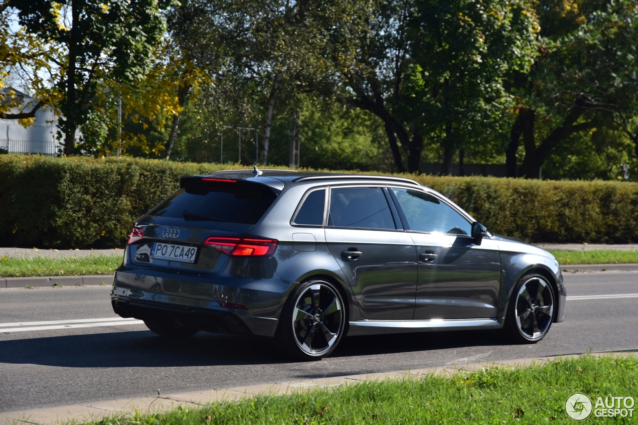 audi rs3 sportback 8v 2018 1 ottobre 2017 autogespot. Black Bedroom Furniture Sets. Home Design Ideas