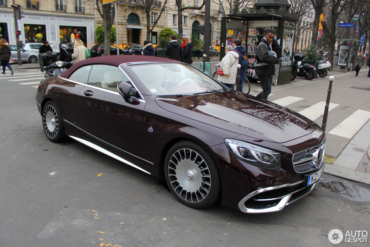 Mercedes maybach s650 cabriolet 20 december 2017 for Mercedes benz s650