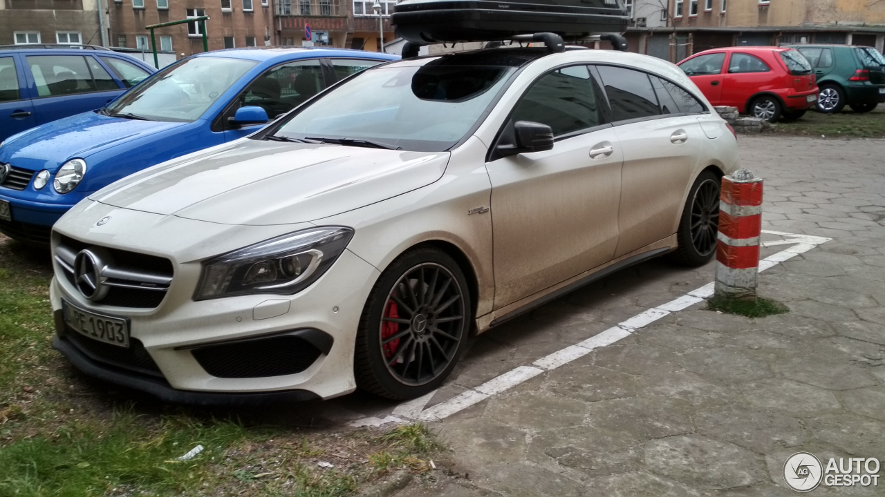 mercedes benz cla 45 amg shooting brake 28 december 2017 autogespot. Black Bedroom Furniture Sets. Home Design Ideas